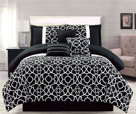 bedroom comforters sets 7 piece ladera black comforter set