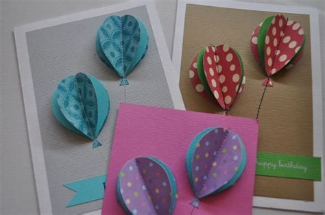 Handmade Pop Up Cards - handmade greeting card ideas with balloons