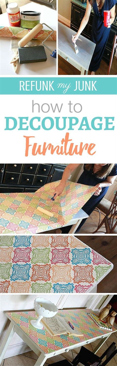 Wrapping Paper Decoupage Furniture - 25 best ideas about how to decoupage furniture on