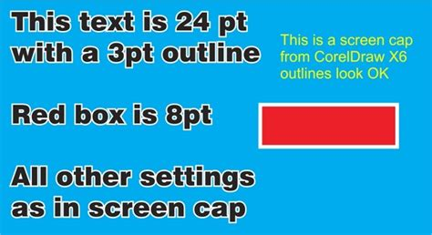 coreldraw x6 outline outlines on text or objects are notched coreldraw x6