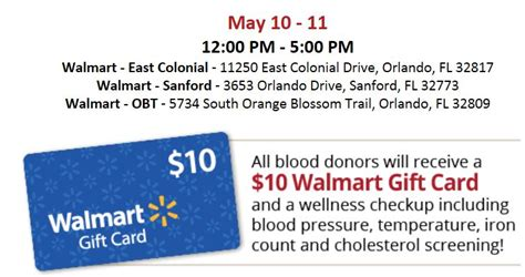 Blood Donation Gift Card - local readers free 10 walmart gift card w blood donation who said nothing in