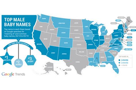 most googled thing here are the most searched baby names by state according
