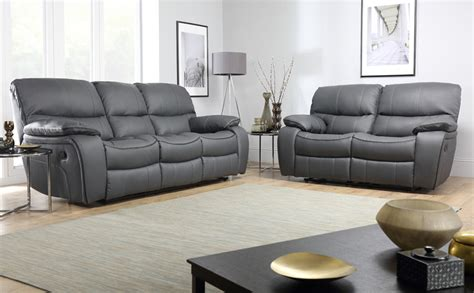 grey sofas in living room beaumont grey leather recliner sofa 3 2 seater only 163 1 099