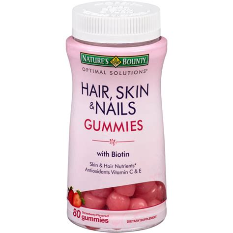 hair and nail supplement nature s bounty hair skin nails gummies review ad