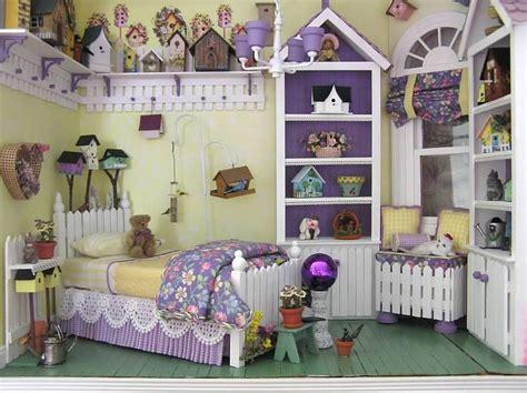 dollhouse bedroom susan s miniatures tweet dreams lots of little bird