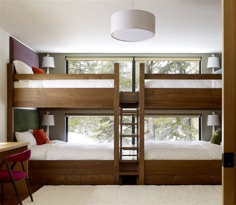 room bunk beds four one room bunk beds decoholic