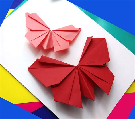 Folded Paper Butterflies - origami butterfly easy to do paper butterfly wall