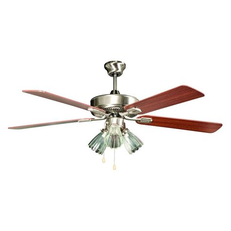 hton bay stainless steel ceiling fan hton bay sussex ii 52 in indoor brushed nickel ceiling