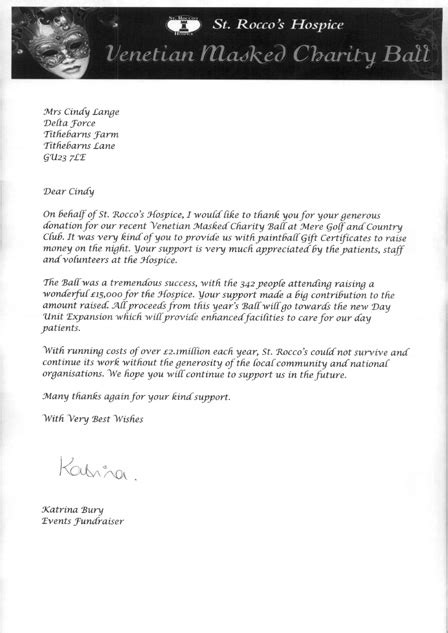 charity donation thank you letter uk charity thank you letters uk 28 images xbhx xbhx