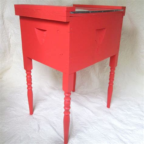 Upcycled Side Table Upcycled End Table In Watermelon The Honey Company