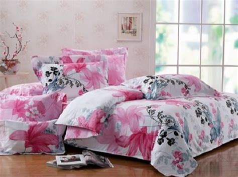 Pink Xl Comforter by Xl 100 Cotton Pink Black Gray Floral