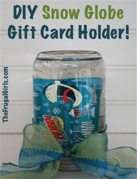 Mason Jar Snow Globe Gift Card - diy snow globe gift card holder in a jar at thefrugalgirls com masonjars