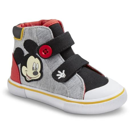 mickey sneakers toddler boy s disney mickey mouse sneakers grey mr