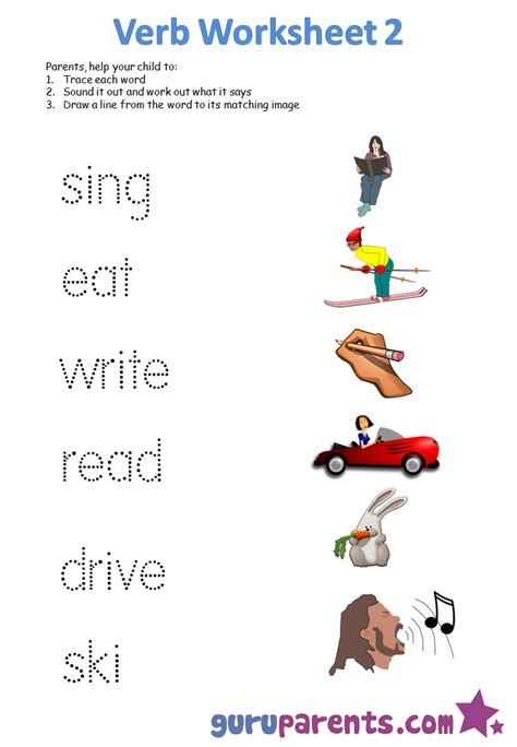 printable pictures verbs free worksheets on verbs free worksheets library
