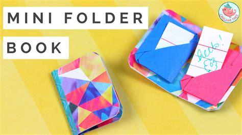 Make A Mini Book Challenge by Mini Origami Book How To Make A Mini Origami Folder Book