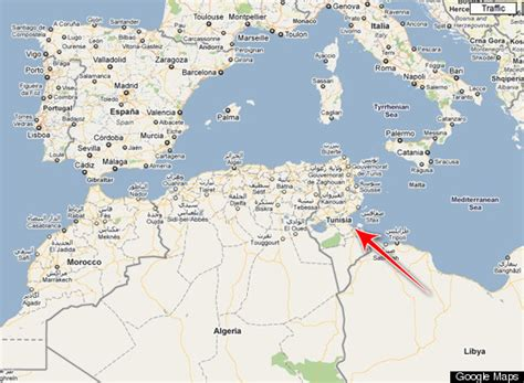 where is tunisia located on a map tunisia map where is the revolution taking place huffpost