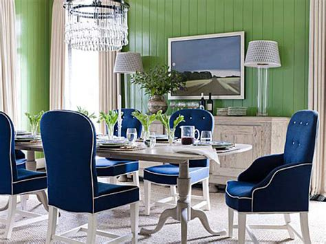 Blue Dining Room Furniture Blue Upholstered Dining Chairs Homesfeed