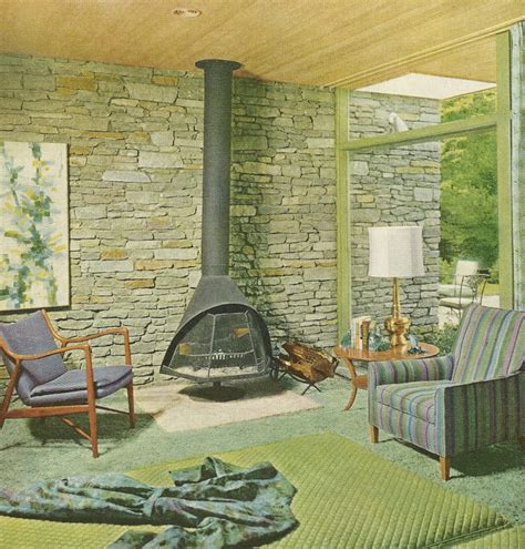 Sixties Home Decor 1960s Decorating Vintage Home Decor Mid Century Modern Stove Wood Burning