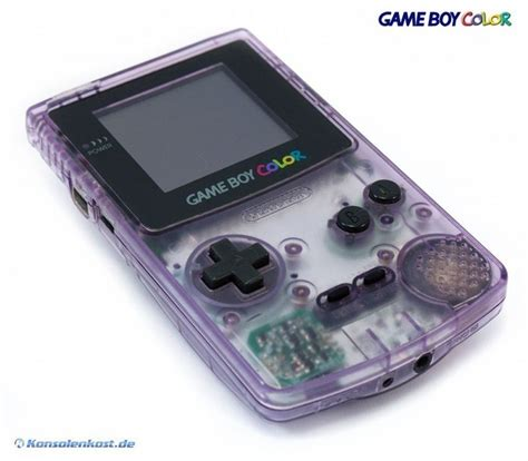 atomic purple gameboy color gameboy color console clear atomic purple