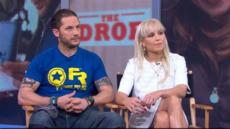 noomi rapace and tom hardy cuddle up to cute puppy while tom hardy noomi rapace interview 2014 actors star in