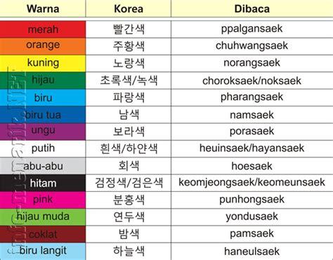 membuat nama menggunakan bahasa korea kosakata warna bahasa korea untuk pemula