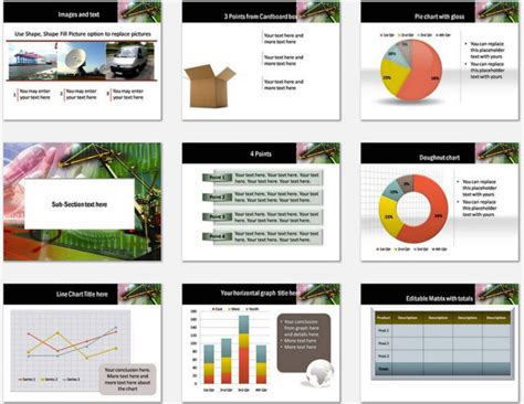 powerpoint logistics template sets powerpoint on time logistics template