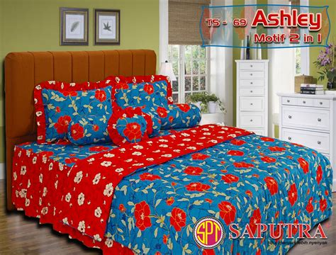 Bed Cover Set Sprei Rumbai Saputra 180 X 200 Motif selamat datang di shop aura sprei dan bed cover saputra uk 180x200