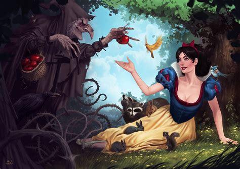 painting snow white snow white by dariojart on deviantart