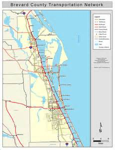 Map Of Brevard County Florida by Brevard County Road Network Color 2009