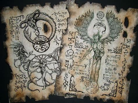 libro the occult witchcraft cthulhu larp dark rituals necronomicon scrolls occult