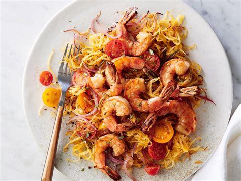 cooking light shrimp sci pan seared shrimp with rosemary spaghetti squash recipe