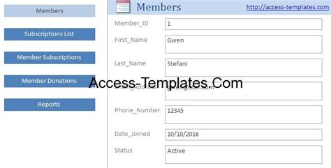 Nonprofit Fundraising And Donation Management Software For Ms Access Access Database And Templates Microsoft Access Donor Database Template