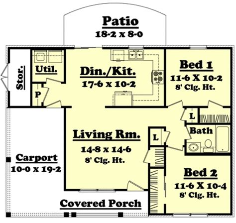 floorplans com traditional style house plan 2 beds 1 baths 900 sq ft