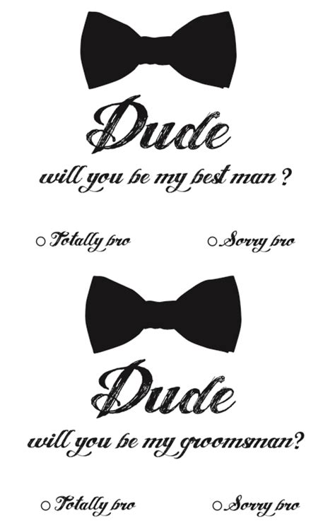 Best Man Invites Minus The Quot Dude Quot Quot Bro Quot Verbage This Could Be What You Need Chadwick Will You Be My Best Template