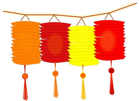 lantern clipart ancient chinese pencil and in color