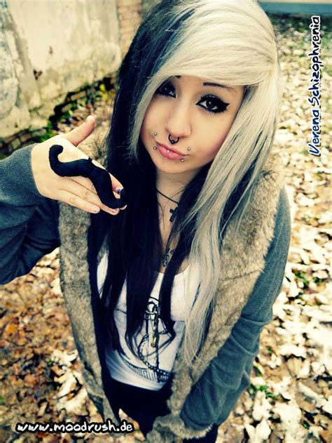 emo hairstyles black and white 1000 images about hair makeup on pinterest scene hair