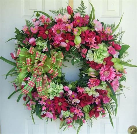 how to make a spring wreath for front door spring wreaths for front door beautiful bright spring
