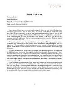Memo Essay by Templates 187 Memo