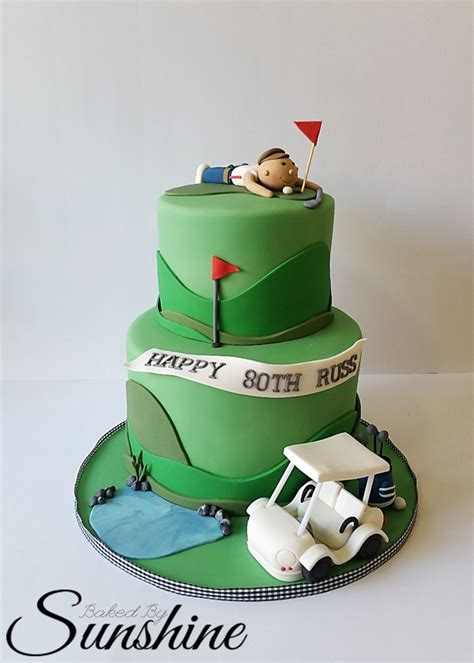 Surprise Golf Themed Cake For An 80Th Birthday   CakeCentral.com