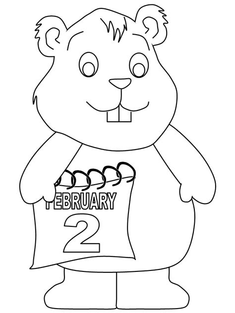 Groundhog Coloring Pages Coloring Pages Groundhog Coloring Page