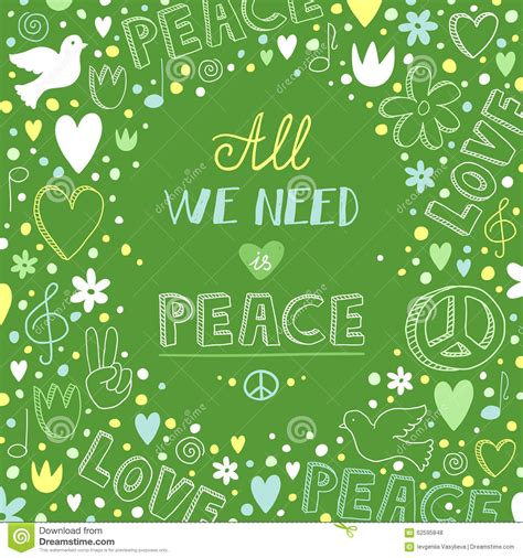 doodle theme free vector doodle green and peace theme background with