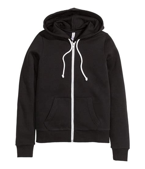 Hoodie H M By Imbong h m hooded jacket in black lyst