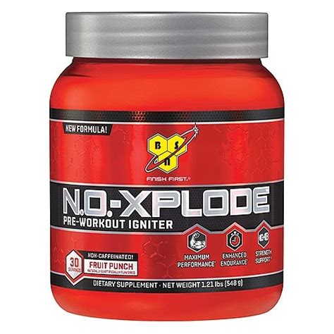 n o xplode energy drink bsn n o xplode non caffeinated pre workout igniter fruit