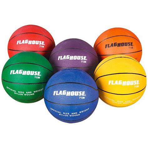 Sport Set Ready 5 Colour flying colors 174 rubber basketball set 5 flaghouse