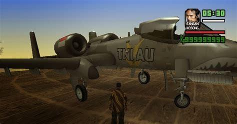 cara naik pesawat jet gta pesawat tempur a 10 tni au gtaind mod gta indonesia
