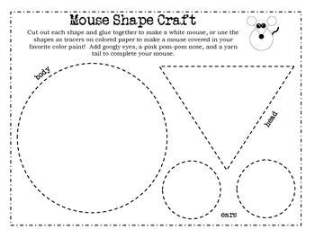 mouse paint shape craft shapes lesson plan pinterest