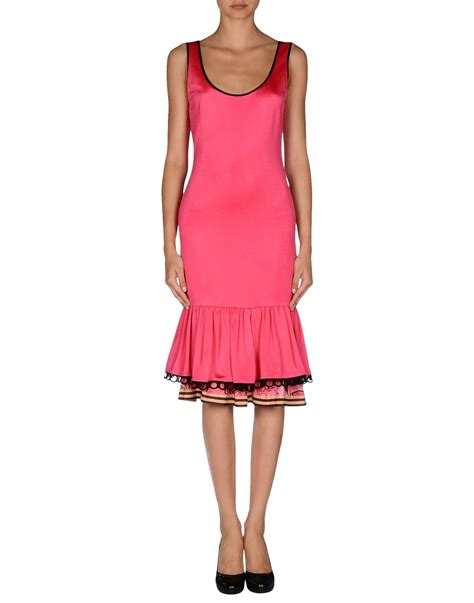 Kid Dress Cavally Pink class roberto cavalli knee length dress in pink fuchsia lyst