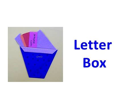 How To Make Letter Box With Paper - how to make an origami letter box