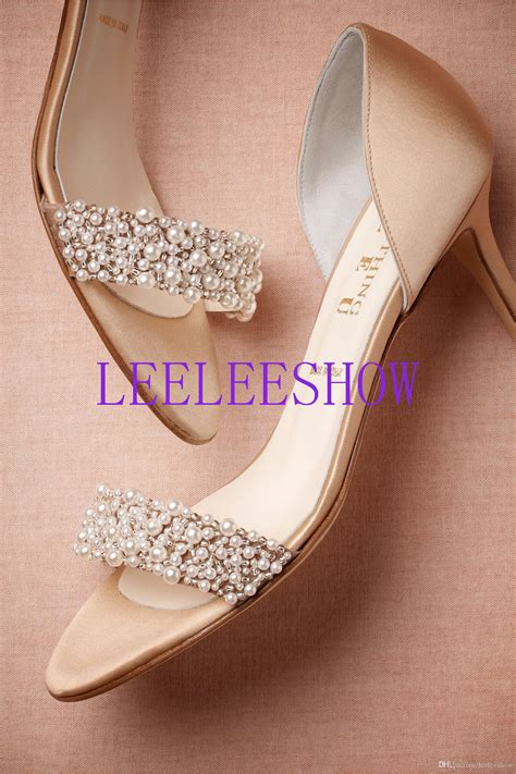 Wedding Shoes With Pearls by 2015 Wedding Shoes With Subtle Pearls Stiletto