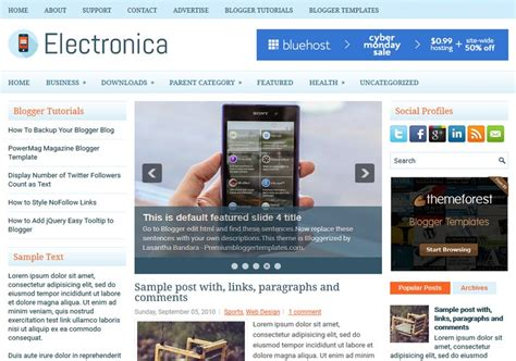 electronics templates for blogger electronica simple blogger template free graphics